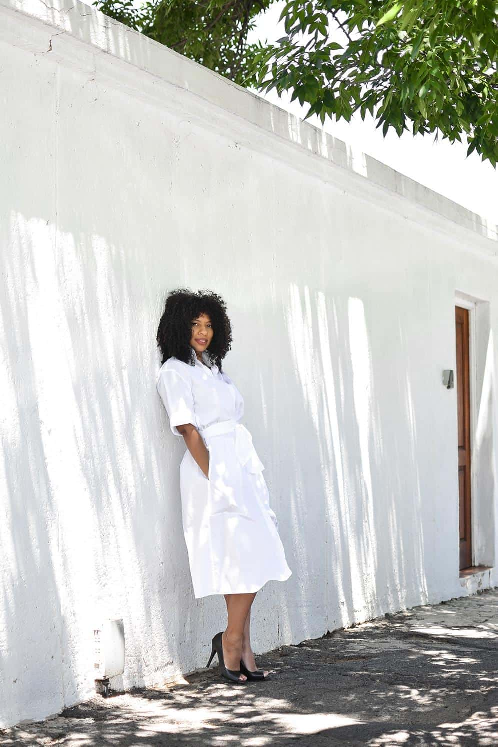 eleanor j'adore - the white shirt dress