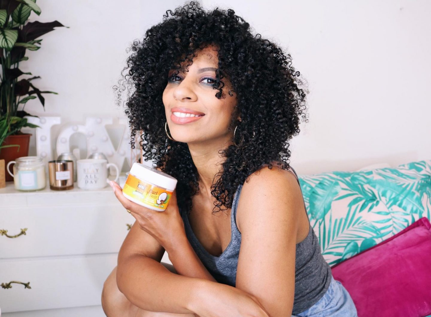 One product styling with Afri-True Curl Power