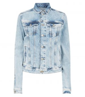 Tall Pale Blue Boxy Denim Jacket
