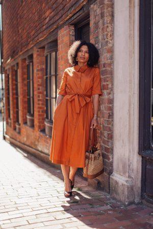 Rust Coloured Shirt Dress